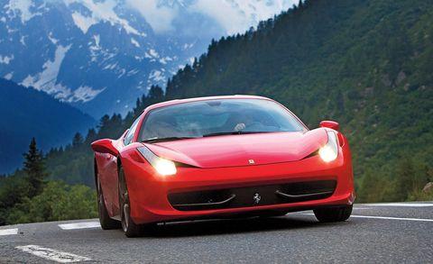 Mode of transport, Automotive design, Vehicle, Transport, Performance car, Automotive lighting, Red, Road, Car, Automotive mirror,