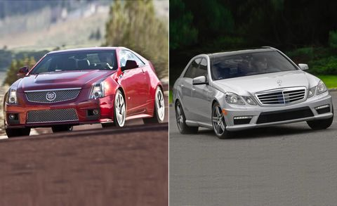 2011 Cadillac Cts V Coupe Vs 2010 Mercedes Benz E63 Amg Full