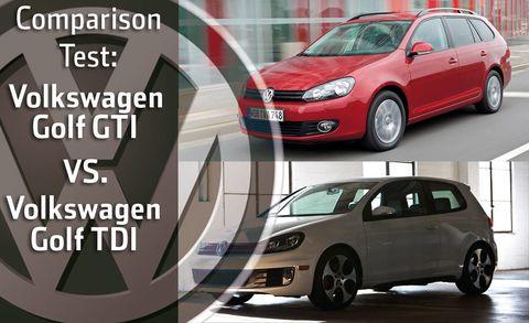 2010 Volkswagen Golf GTI vs  Golf TDI - Full Comparison Test