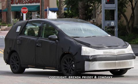 The Toyota Prius Hybrid Looks Ready To Start A Family Judging From These Spy Images Much Aned Compact Minivan Ears Nearly For