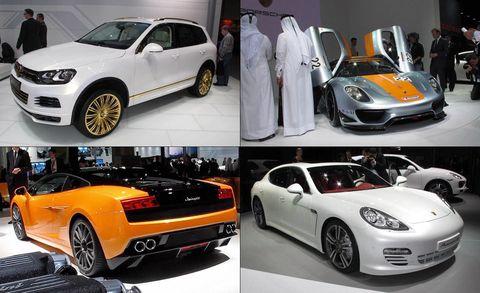 qatar 2011 motor show collage