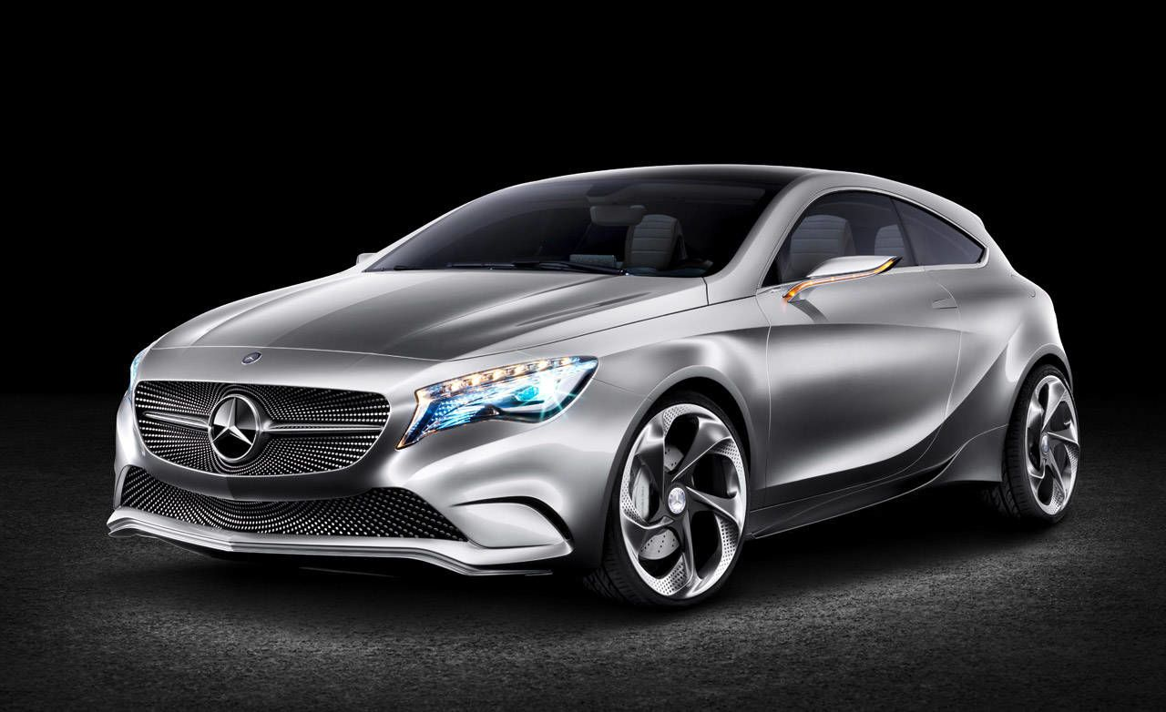 The Mercedes Benz Concept A Class Is Not Only Making Its Global Debut  During Both The New York And Shanghai Auto Shows, The Hunkered Down Little  Two Door ...