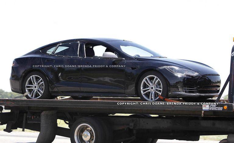 Tesla Model S Tesla Model S Spy Photos - 2012 tesla model s