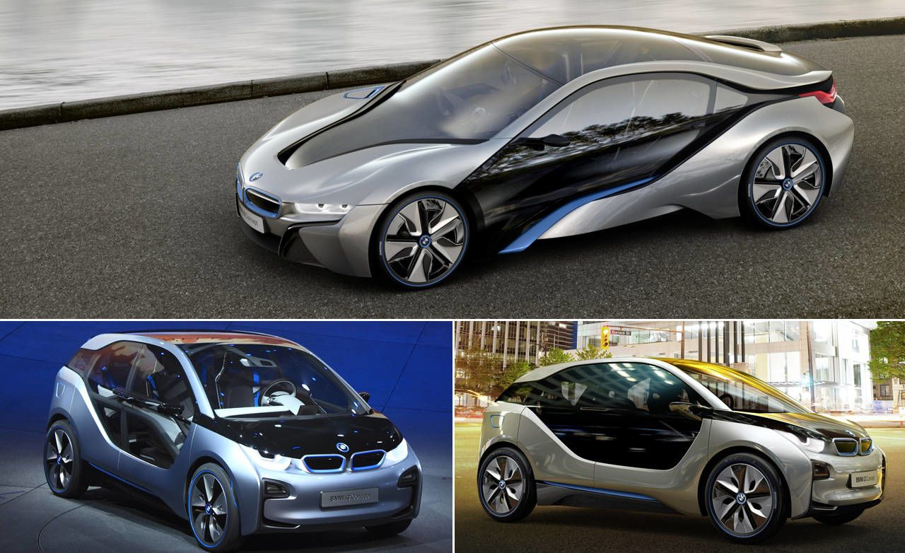 Two BMWs Were Unveiled Before A Scrum Of Jetlagged Journalists Today; A  Little Boxy Car Named The I3 Concept (previously Known As The Megacity) And  The I8, ...