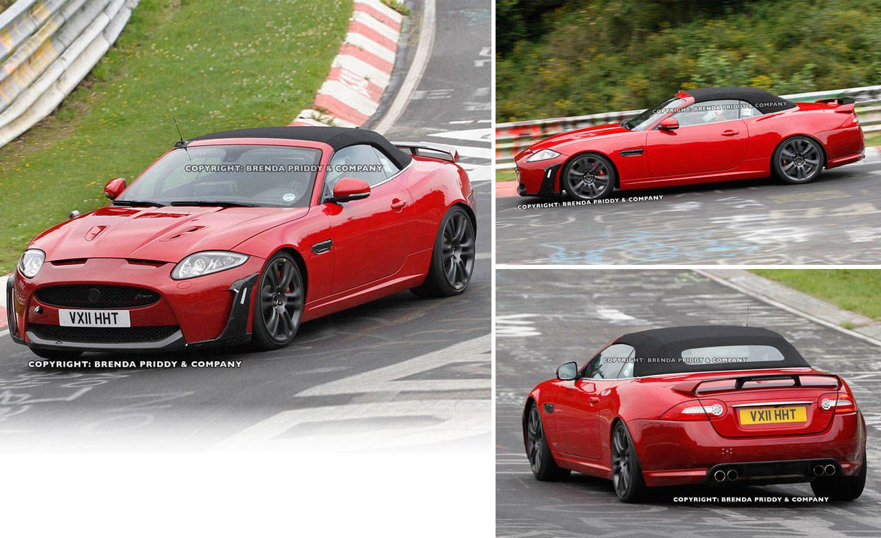 It Takes One Very Cool Car To Make Black Masking Tape Look Racy. Call Us  Crazy, But The XKR S Cabrio Caught Testing By Our Spy Photographers Looks  To Be ...