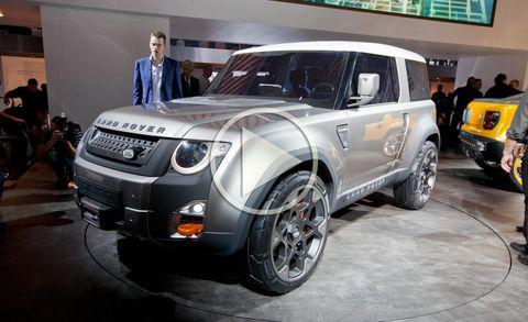 Land Rover DC100 Defender Concept Video at Frankfurt Auto Show