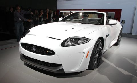 The Jaguar Xkr S Has Arrived At L A Auto Show 550 Bhp Grand Touring Car Will Now Be Available As Both Coupe And Convertible