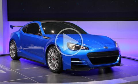 Subaru Brz Sti Concept Video At The 2011 Los Angeles Auto Show