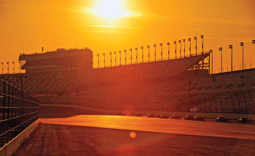 The Sun Sets on Daytona International Speedway, the setting for the Rolex 24 at Daytona