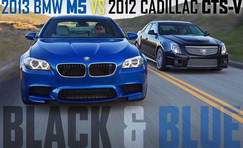 2013 Bmw M5 Vs 2012 Cadillac Cts V M5 Vs Cts V Comparison Test