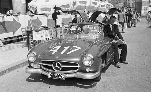 john fitch with mercedes gullwing