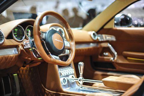 Motor vehicle, Steering part, Mode of transport, Steering wheel, Automotive design, Transport, Car, Speedometer, Center console, Gauge,
