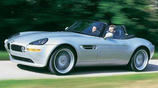 Tire, Wheel, Mode of transport, Automotive design, Vehicle, Automotive mirror, Steering wheel, Bmw z8, Hood, Car,