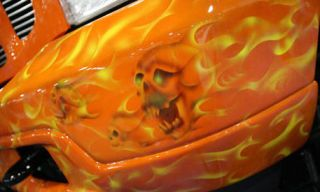 Orange, Automotive lighting, Amber, Peach, Creative arts, Automotive light bulb, Hood, Carving, Headlamp, Kit car,
