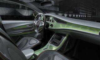 Motor vehicle, Mode of transport, Automotive design, Transport, Steering part, Steering wheel, Photograph, White, Luxury vehicle, Automotive mirror,
