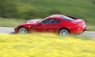 Tire, Yellow, Vehicle, Automotive design, Land vehicle, Car, Red, Plain, Performance car, Sports car,