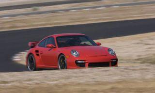 Mode of transport, Vehicle, Automotive design, Car, Red, White, Landscape, Asphalt, Road surface, Fender,