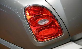 Automotive tail & brake light, Automotive lighting, Red, White, Light, Carmine, Grey, Automotive light bulb, Luxury vehicle, Silver,