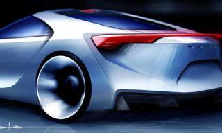 Mode of transport, Automotive design, Red, Automotive lighting, Automotive exterior, Concept car, Car, Fender, Carmine, Sports car,