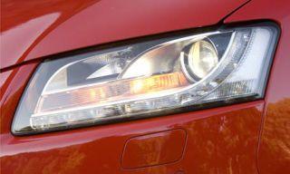 Automotive design, Automotive lighting, Vehicle, Headlamp, Red, Automotive parking light, Car, Hood, Automotive exterior, Light,