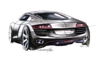 Automotive design, Vehicle, Automotive exterior, Red, Fender, Automotive lighting, Concept car, Black, Sports car, Auto part,