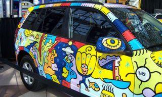Motor vehicle, Mode of transport, Yellow, Automotive design, Car, Vehicle door, Fender, Hatchback, Rim, Fixture,