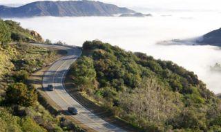 Nature, Vegetation, Road, Mountainous landforms, Natural landscape, Road surface, Infrastructure, Hill, Highland, Asphalt,
