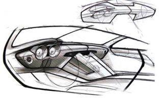 Automotive design, Automotive exterior, Automotive lighting, Artwork, Vehicle door, Headlamp, Automotive window part, Hood, Illustration, Automotive light bulb,