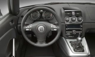 Motor vehicle, Mode of transport, Steering part, Steering wheel, Transport, White, Speedometer, Gauge, Center console, Luxury vehicle,