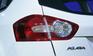 Automotive tail & brake light, Automotive design, Automotive lighting, Red, White, Car, Automotive exterior, Light, Grey, Automotive light bulb,