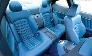 Motor vehicle, Mode of transport, Blue, Transport, White, Car seat, Car seat cover, Vehicle door, Head restraint, Luxury vehicle,