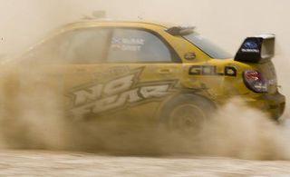 Motor vehicle, Mode of transport, Yellow, Vehicle, Transport, Automotive design, Car, Motorsport, Rallying, Dust,