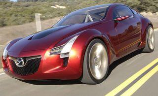 Tire, Mode of transport, Automotive design, Automotive mirror, Vehicle, Land vehicle, Transport, Car, Red, Automotive lighting,