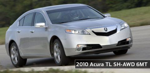 View the latest first drive review of the 2010 Acura TL SHAWD 6MT