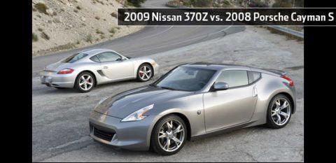 2009 nissan 370z vs 2008 porsche cayman s rh roadandtrack com 370z auto vs manual 0-60 nissan 370z auto vs manual