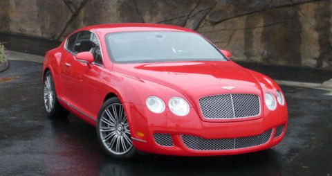 Vehicle, Red, Grille, Car, Bentley, Hood, Automotive lighting, Rim, Fender, Alloy wheel,