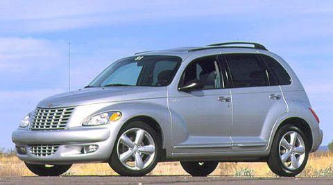 Land vehicle, Vehicle, Car, Chrysler pt cruiser, Motor vehicle, Minivan, Chrysler, Hood, Crossover suv, Landscape,