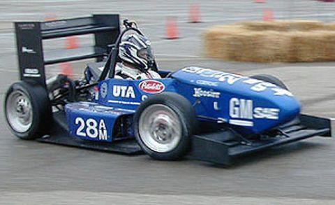 Tire, Automotive tire, Automotive design, Blue, Sport venue, Vehicle, Automotive wheel system, Race track, Motorsport, Open-wheel car,