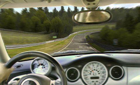 Motor vehicle, Mode of transport, Transport, Vehicle, Automotive mirror, Automotive design, Road, Glass, Speedometer, Steering wheel,