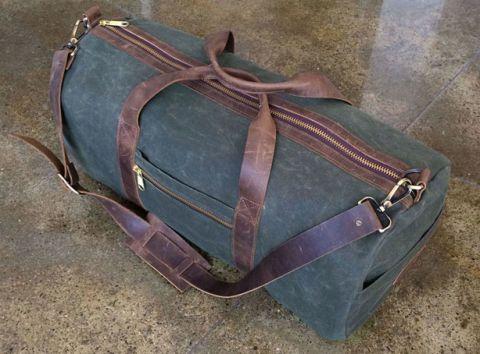 The Endorsement: Gustin's Waxed Canvas Duffel Bag