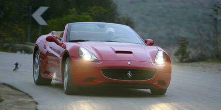 Mode of transport, Automotive design, Vehicle, Land vehicle, Hood, Car, Red, Performance car, Headlamp, Automotive lighting,