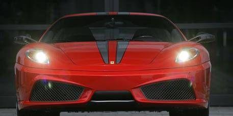 Mode of transport, Automotive design, Automotive exterior, Vehicle, Land vehicle, Transport, Automotive lighting, Red, Car, Hood,