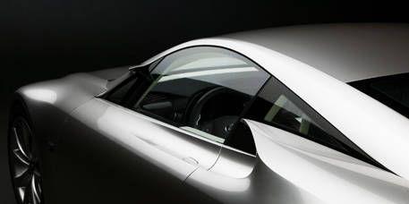Automotive design, Vehicle door, Automotive exterior, Glass, Fixture, Black, Concept car, Monochrome photography, Luxury vehicle, Black-and-white,