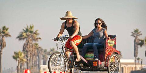 Tire, Wheel, Hat, Cone, Bicycle tire, Tourism, Fender, Sunglasses, Sun hat, Automotive tire,