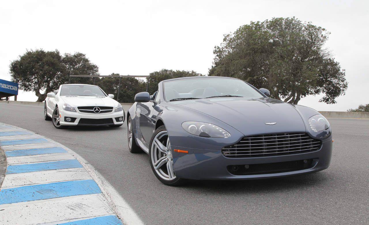 photos: aston martin v8 vantage roadster vs. mercedes-benz sl63 amg