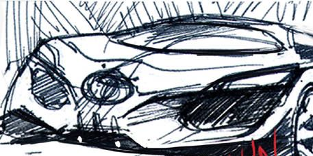 Automotive design, Line, Artwork, Automotive lighting, Line art, Illustration, Drawing, Painting, Sketch, Graphics,