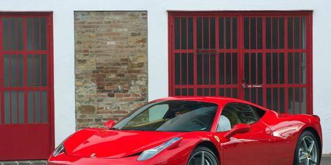 Tire, Wheel, Mode of transport, Automotive design, Vehicle, Transport, Land vehicle, Red, Rim, Car,