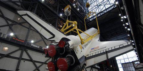 Aerospace engineering, Ceiling, Space, Spacecraft, Engineering, Hangar, Iron, Aircraft, Industry, Machine,