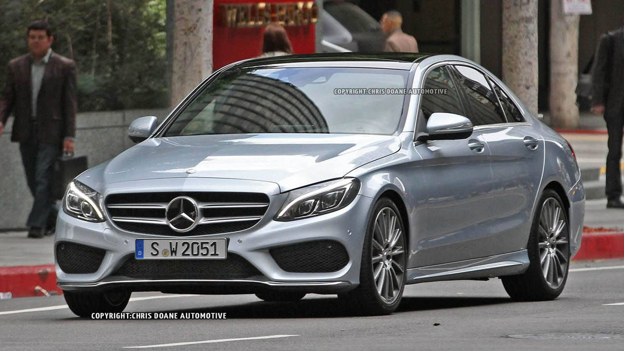 Mercedes C-Class spied with no camo