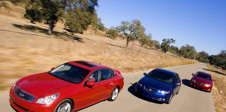 Photos: Acura TL Type-S, Infiniti G35 Sport and Lexus IS 350
